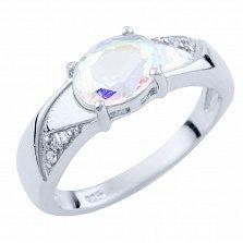 Серебряное кольцо Сольвейг с топазом мистик и фианитами