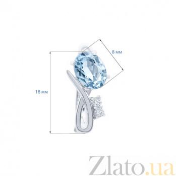 Серебряные серьги с топазом Колокольчик AQA-E01535T