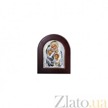 Серебряная икона с деревом Счастливое семейство AQA--EP2-015XAG