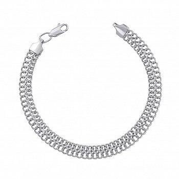 Серебряный браслет в плетении Вияна 000135714