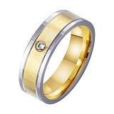 Золотое обручальное кольцо Наша вечная любовь с фианитом