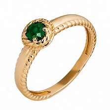Золотое кольцо с изумрудом Флоретта