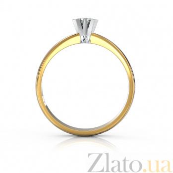Золотое помолвочное кольцо Преданность в комбинированном цвете с бриллиантом VLA--15900