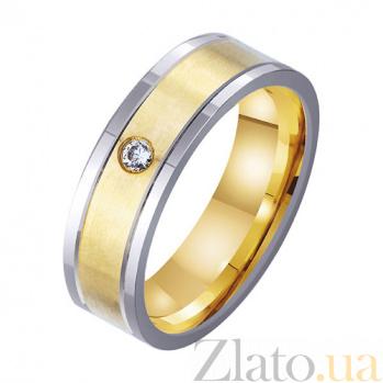 Золотое обручальное кольцо Наша вечная любовь с фианитом TRF--4521740
