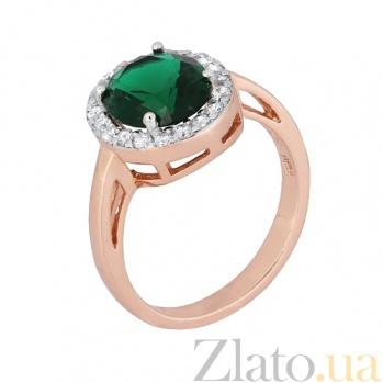 Серебряное кольцо с фианитами Полидора 000028435