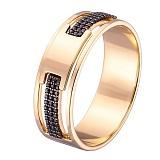 Кольцо в желтом золоте Роскошь с фианитами