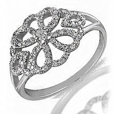 Кольцо из белого золота Княгиня с бриллиантами