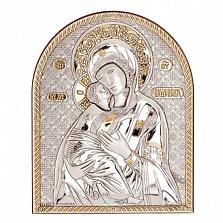 Серебряная с позолотой икона Владимирской Богоматери