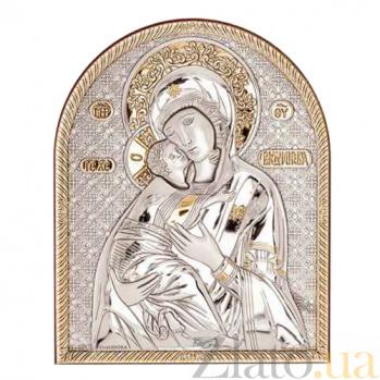 Серебряная с позолотой икона Владимирской Богоматери AQA-09152222