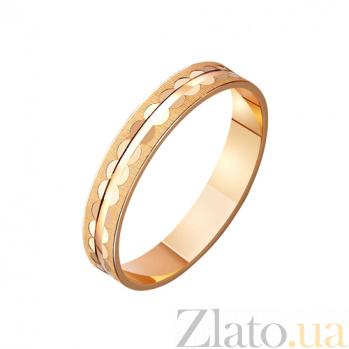 Золотое обручальное кольцо Сияние твоих глаз TRF--411211