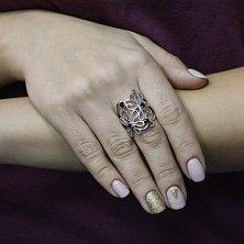 Серебряное кольцо Инга с гранатом