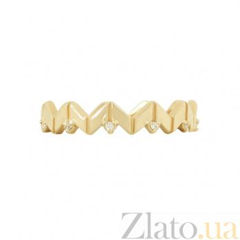 Золотое кольцо с фианитами Гвиневера 2К220-0325