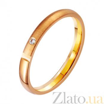 Золотое обручальное кольцо Полнота жизни с фианитом TRF--412977