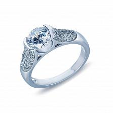 Серебряное кольцо с фианитами Крис