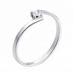 Кольцо в белом золоте Счастливая звезда с бриллиантом