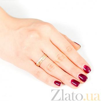 Золотое обручальное кольцо Кружево любви 000001661
