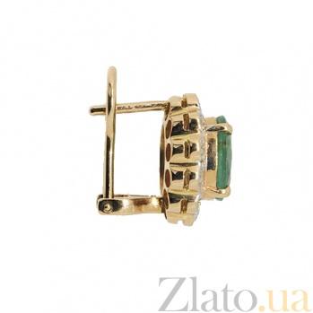 Золотые серьги с бриллиантами и изумрудами Даниэла ZMX--EE-6282_K