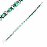 Серебряный браслет Фиолент с зеленым кварцем