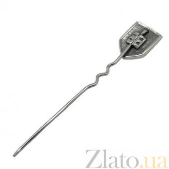 Серебряная булавка Герб Украины 03157