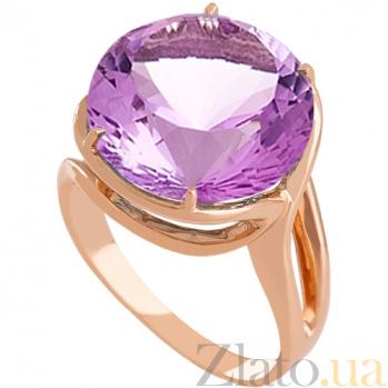 Золотое кольцо с аметистом Румия 000030778