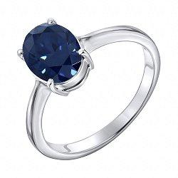 Серебряное кольцо с сапфиром 000123816