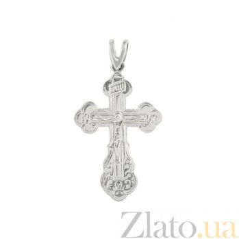 Серебряный крестик Вечная жизнь 3П480-0005
