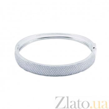 Серебряный браслет с дорожкой из цирконов AQA--WJB-0013-3