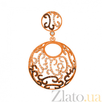 Подвеска из красного золота с фианитами Аида VLT--ТТ3409-2