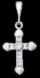 Серебряный крестик с фианитами Лунная дорожка