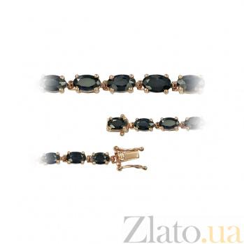 Золотой браслет с сапфиром Blue horizon 000026962