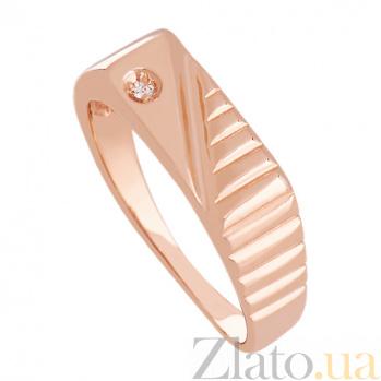 Золотое кольцо с фианитом Ритм дорог 000024336