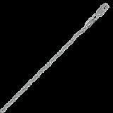 Серебряный браслет Соната с родированием, 19 см