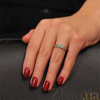 Золотое кольцо с изумрудами Аврора EDM--КД7408СМАРАГД