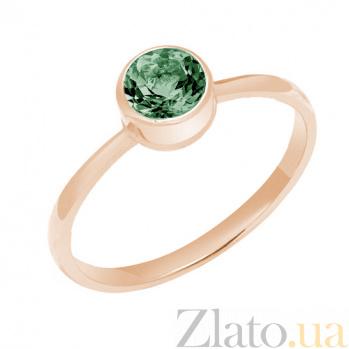 Кольцо в красном золоте Фиона с хризолитом 000023482