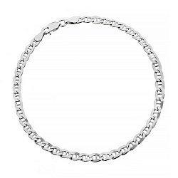 Серебряный браслет с родированием, 3 мм 000071792