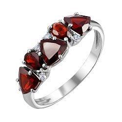 Серебряное кольцо с гранатами 000061481