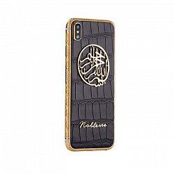 Apple iPhone X Noblesse Bismillah Unique Edition в черной коже аллигатора и золоте 000118828