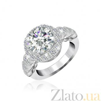 Серебряное кольцо с белыми фианитами Рокси 000025523
