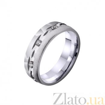 Золотое обручальное кольцо Секреты любви с фианитами TRF--4221112