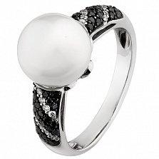 Золотое кольцо Бирма с жемчугом и бриллиантами