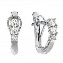 Золотые серьги Эстель с бриллиантами