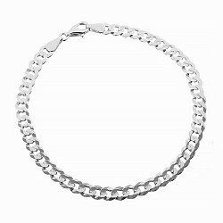 Серебряный браслет с родированием, 4,5 мм 000026340