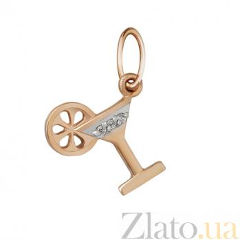 Кулон из красного золота Малибу SVA--3100949101/Фианит/Цирконий