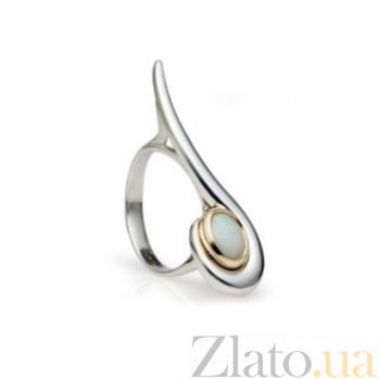 Серебряное кольцо с золотой вставкой и опалом Фирузе 000030019