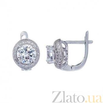 Женские серебряные серьги Летиция AQA--XJT-0239-E1