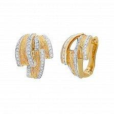 Серьги из желтого золота Эмелина с бриллиантами
