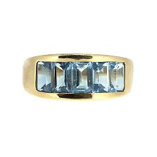 Кольцо из красного золота с топазами Рейна