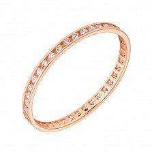 Золотое обручальное кольцо с фианитами Моя нежность