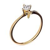 Золотое кольцо с бриллиантом Веста