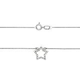 Золотое колье Астрид с кристаллами циркония